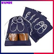 Combo 5 Túi Đựng Giày Dép Có Dây Rút KUNBE, Bảo Quản Giày Dép, Chống Bụi, Chất Liệu Vải Không Dệt, Có Lớp Nhựa Trong Suốt Thuận Tiện Mang Đi Du Lịch thumbnail