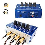 Mini Professionnel 4 Canaux Casque Ecouteur Audio Stéréo Amplificateur Amp Mixer thumbnail
