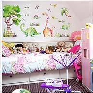 Decal dán tường cho bé công viên khủng long sinh động thumbnail