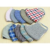 Bộ 10 khẩu trang vải 3 lớp nhiều màu chống bụi, nắng, bảo vệ cơ thể thumbnail