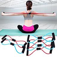 Dây tập yoga đàn hồi, chất liệu cao su cao cấp hỗ trợ các bài tập dãn cơ, tập thể hình đa năng ( tặng vòng tay thể thao) - màu cho nam thumbnail