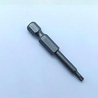 Đầu bắt vít hình sao lỗ dài 50 mm chuôi lục thép S2 thumbnail