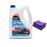 Nước rửa xe bọt tuyết chuyên dụng FOCAR Car Wash 4L cho ô tô xe máy đậm đặc tỷ lệ pha 1 70 tiêu chuẩn ISO 9001 2015 - TẶNG thêm 3 khăn microfiber thumbnail