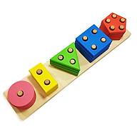 Đồ Chơi Gỗ - Bộ Thả hình khối 3D 4 tầng - đồ chơi thông minh cho bé rèn luyện các kỹ năng cơ bản hiệu quả thumbnail