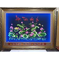 Tranh thêu lịch vạn niên gắn đèn led đổi màu. Hoa Sen -2078 thumbnail