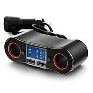 Bộ chia tẩu sạc đa năng trên ô tô (Tặng kèm 03 nút kẹp cao su giữ dây điện) thumbnail