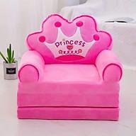 Ghế tập ngồi, ghế sofa cho bé, ghế ăn dặm, ghế lười màu hồng thumbnail