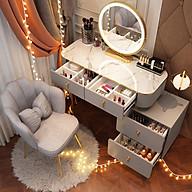 Ghế bàn trang điểm bằng nỉ nhung chân mạ vàng cao cấp, Ghế bàn trang điểm phong cách bắc âu AK668 thumbnail
