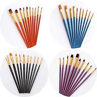 Bộ Cọ Chuyên Dụng Để Tô Vẽ Tranh Sơn Dầu, Màu Nước Acrylic (10 cây- có sẵn) thumbnail