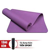 Thảm Tập Yoga Eco Friendly TPE Tặng Kèm Túi Đựng Thảm - Tím (8mm) thumbnail