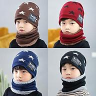 Mũ kèm khăn len cho bé (màu ngẫu nhiên) thumbnail