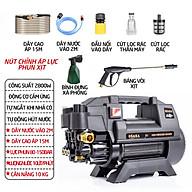 Máy rửa xe mini gia đình công suất mạnh 2800W có thể chỉnh áp, bộ máy xịt tưới cây dễ dàng sử dụng, ống bơm nước 15m, vòi bơm áp lực cao thumbnail