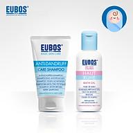 Combo dầu tắm dưỡng ẩm cho bé EUBOS 125ml và dầu gội ngừa gàu cho mẹ EUBOS 150ml thumbnail