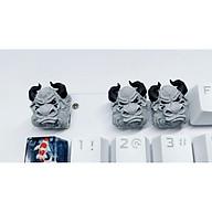 Keycap bò clone tone đen xám trang trí bàn phím cơ. thumbnail