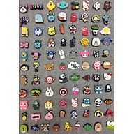 Combo 50 Jibbitz Stickers 2D gắn dép Crocs thumbnail