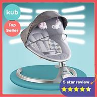 Nôi Rung Điện Tự Động Cho Bé - KUB - Model Mới 2019, Màn Hình Cảm Ứng LED, Phát Nhạc Qua Điện Thoại Bằng Bluetooth, Điều Khiển Từ Xa thumbnail