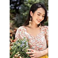 Áo croptop thô hoa, chun gấu A2012-21 thumbnail