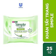 Giấy tẩy trang Simple Kind to Skin Cleansing Facial Wipes thumbnail