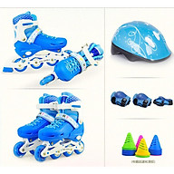 Giày Patin, Giày Trượt Patin Tăng Giảm Size + Tặng Kèm Bộ Bảo Hộ (Chân Tay + Mũ Bảo Hiểm) - thumbnail