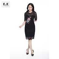Váy Đầm Ôm Body K&K Fashion KK99-39 Màu Đen Chất Vải Ren Cotton thumbnail