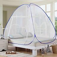 Màn chụp tự bung gấp gọn 2 cửa kích thước 1m8 x 1m95 cho phòng ngủ (Viền màu ngẫu nhiên) thumbnail