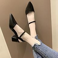 Giày Cao Gót Nữ Thời Trang Cao Cấp Ladiez , Sandal Đế Vuông 5 Phân Mũi Nhọn Êm Chân Xinh Xắn Siêu Đẹp thumbnail