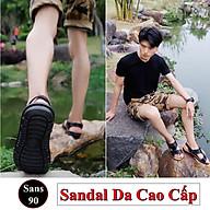 Xăng đan Sandal Da Nam Cao Cấp Chống Nước Dép Quai Hậu Sans90 thumbnail