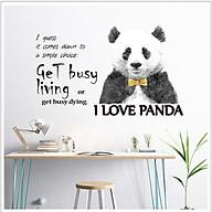 Decal dán tường I love Panda và thông điệp ý nghĩa AmyShop DKN101 (70 x 80 cm) thumbnail