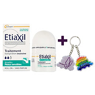 Lăn Khử Mùi ETIAXIL Détranspirant Traitement Aisselles Peaux Sensibles 15ml (Dành Cho Da Nhạy Cảm) + Tặng 1 Móc Khóa Nhựa 2 Mặt thumbnail
