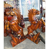 Cặp ngựa gỗ cao 40cm thumbnail