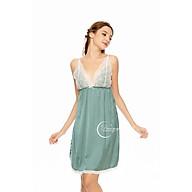 Dreamy VX22 Váy Ngủ Lụa Cao Cấp Hai Dây Phối Ren Dáng Xòe Trẻ Trung Quyến Rũ thumbnail