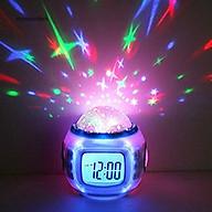 Đồng hồ điện tử có máy chiếu đèn LED hình bầu trời sao đẹp mắt kèm phát nhạc độc đáo dành cho phòng trẻ thumbnail