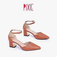 Giày Cao Gót Đế Vuông 5cm Bít Mũi Quai Hậu Pixie X772 thumbnail