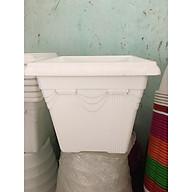 Chậu Nhựa Vuông Trồng Cây, Hoa Kiểng Bền Đẹp (màu trắng) thumbnail