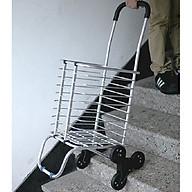 Xe kéo đi chợ 3 bánh đen leo cầu thang siêu nhẹ cao cấp thumbnail