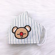 Khẩu Trang Trẻ Em Sọc Gấu Duy Ngọc cao cấp, hàng chính hãng, họa tiết chú gấu con ( GIAO MÀU NGẪU NHIÊN ) (0002) thumbnail