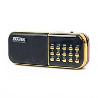 Radio mini nghe đài, nghe nhạc thẻ nhớ, USB, nghe kinh phật Craven-25A - Hàng nhập khẩu thumbnail