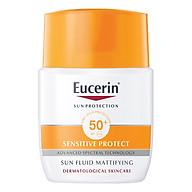 Kem Chống Nắng Không Gây Nhờn Rít Cho Da Thường Và Da Hỗn Hợp Eucerin Sun Fluid Mattifying Face SPF50+ (50ml) thumbnail
