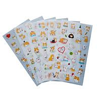 Bộ 6 tấm sticker thú cưng A-1505 thumbnail