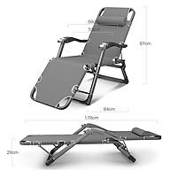 Ghế xếp kiêm giường có lăn tay massage tặng nệm nằm ngủ 68x178cm thumbnail