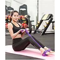 Dây kéo đàn hồi 4 ống cao su chắc chắn tập thể dục, tập gym đa năng tại nhà nâng cao sức khỏe thumbnail