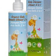 - Dầu tắm gội Organic 2 trong 1 AZETAbio đặc biệt cho bé sơ sinh thumbnail
