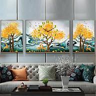 Tranh treo tường, tranh đồng hồ NT171 bộ 3 tấm ghép thumbnail