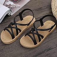 Sandal nữ la mã thiết kế lưới đế dày thời trang đi biển thumbnail