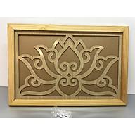 Tấm chống ám khói khung gỗ sồi mẫu hoa sen vàng -TL248 thumbnail