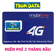 SIM 4G MOBIFONE TRÙM DATA Gói FV99 FV119 (KHÔNG GIỚI HẠN DUNG LƯỢNG, TỐC ĐỘ LUÔN LUÔN CAO 2Mbs) thumbnail