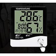 Máy đo nhiệt độ, độ ẩm - Tặng kèm 02 móc treo đồng hồ hoặc treo đồ thumbnail