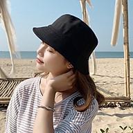 Nón bucket trơn đơn giản dễ phối đồ, chất liệu vải mềm mại, vành rộng chống nắng tốt thumbnail