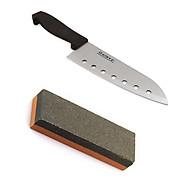 Combo dao nhà bếp Inox có lỗ + đá mài dao kéo nội địa Nhật Bản thumbnail