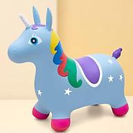 Thú nhún bơm hơi hình ngựa cho bé ( Tặng 01 lục lạc gỗ phát tiếng vui nhộn cho bé ) thumbnail